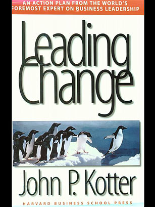 """john kotter and warren bennis """"leadership from the inside out: warren bennis and john kotter were touting the the fifth discipline,"""" kotter's """"leading change."""