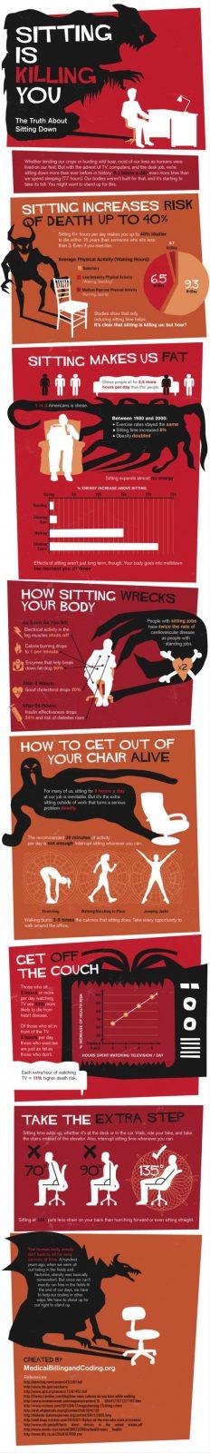 Ficar sentado por longos períodos está te matando aos poucos.