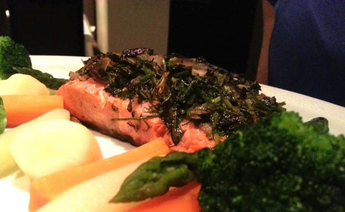 O salmão selvagem do Alasca é rico em antioxidantes.