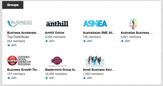 Participe dos grupos do LinkedIn que pode ajudar você a ser relevante para o seu mercado.