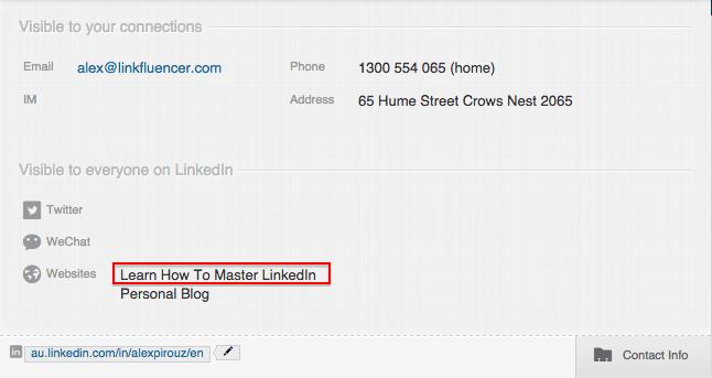 Personalize o texto âncora de seus links.