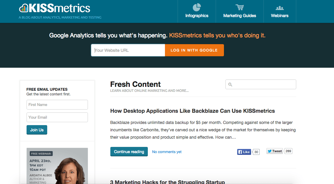 Blog do KISSmetrics