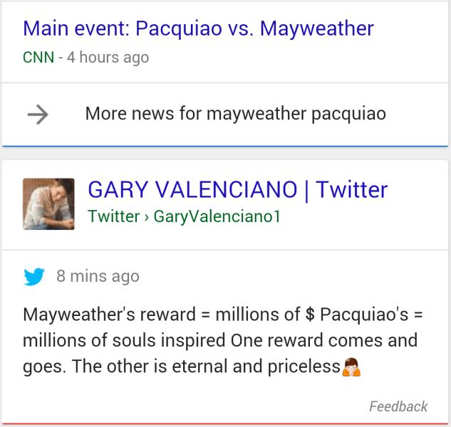O Google já está exibindo, aos poucos, tweets em seus resultados de buscas.