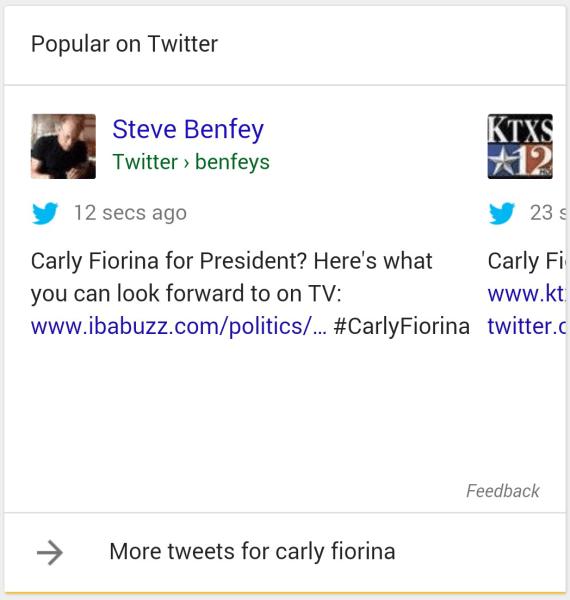 Tweets Google