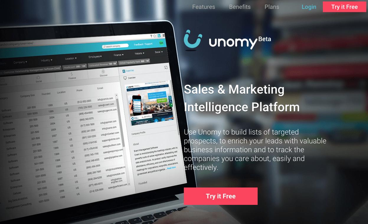 O Unomy pode ser uma  ótima ferramenta para encontrar leads de vendas.